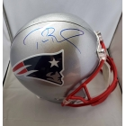 Tom Brady signed New England Patriots Full Size Football Helmet TRISTAR Authenticated
